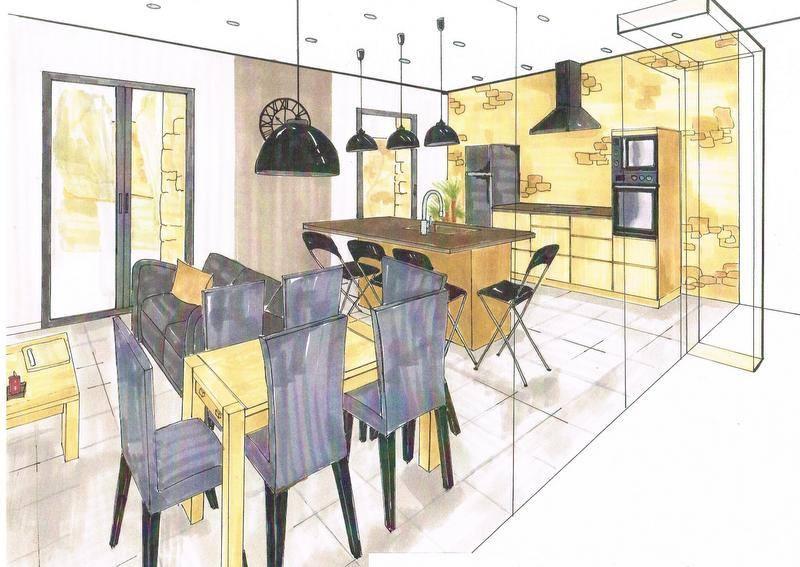 cuisine en ch ne brut de sciage coralie cr ation. Black Bedroom Furniture Sets. Home Design Ideas