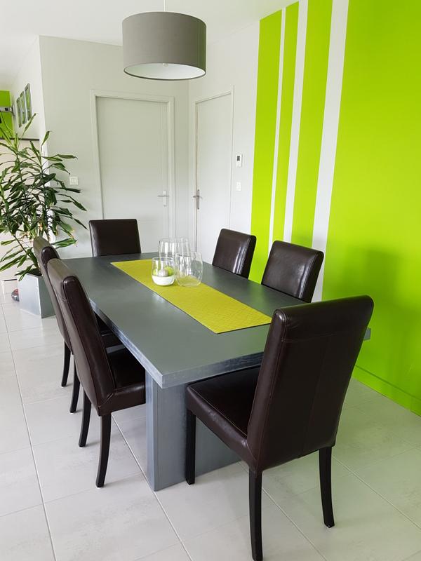 Salle à manger vert anis