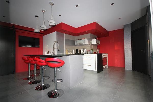 cuisine rouge apres