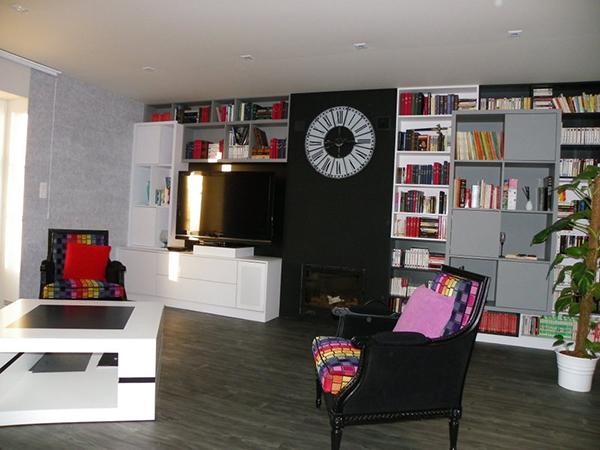 Bibliothèque contemporaine - Coralie Création