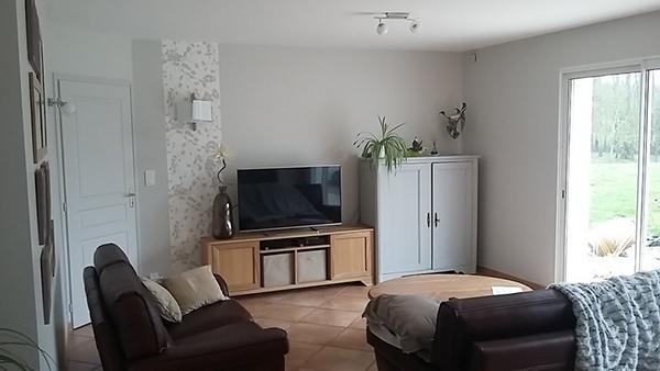 Salon meuble TV après