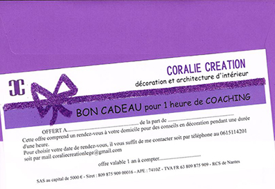 Bon cadeau Coralie creation